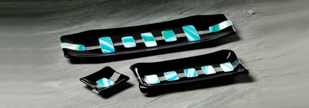 Eve Passeltiner, Turquoise Sushi Set
