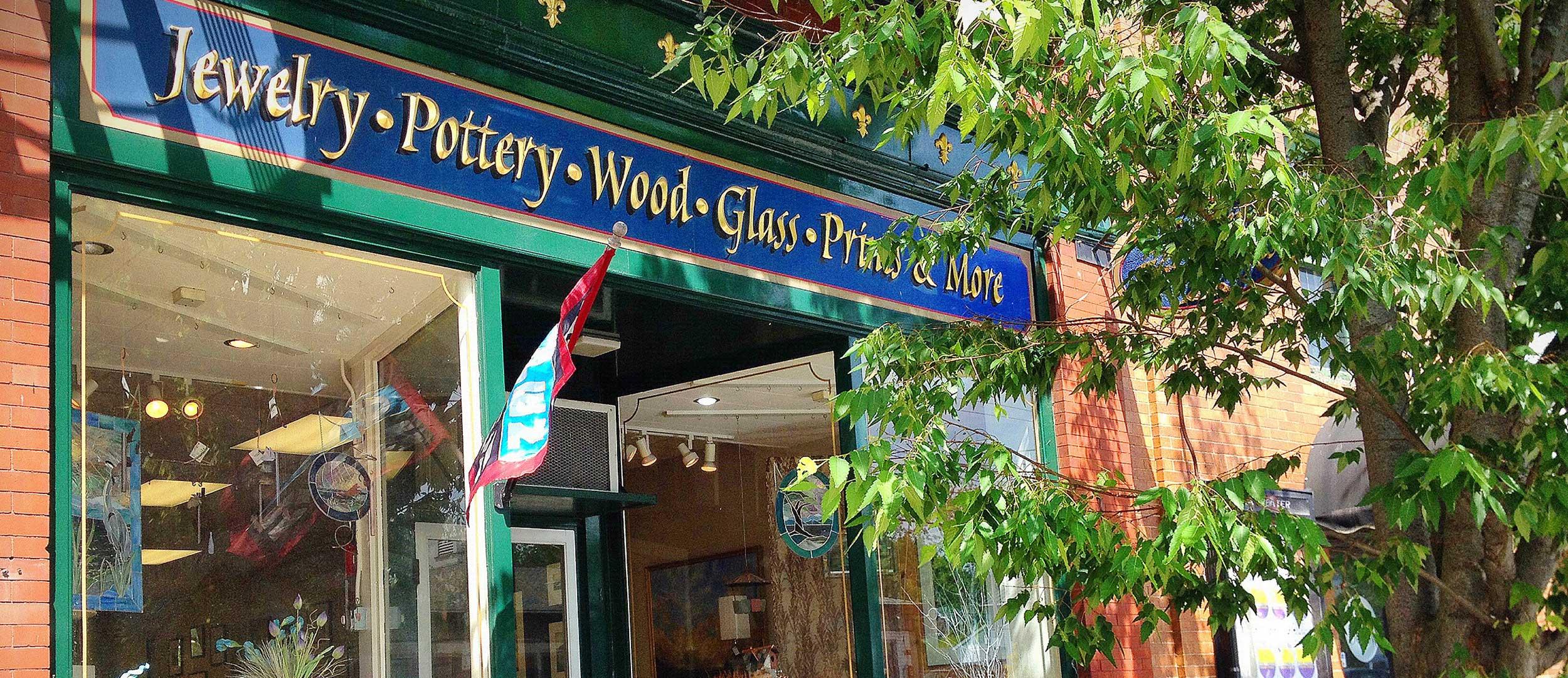Exeter Fine Crafts Shop Front